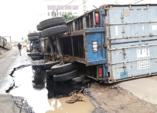 container kills woman calabar
