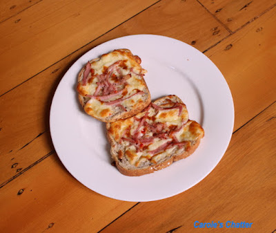Carole's Chatter: Ham & cheese toastie w brown sauce