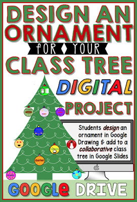 Students will enjoy designing an ornament in Google Drawing and adding it to their collaborative class tree in Google Slides