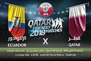 نتيجه مشاهده مباراه قطر والاكوادور اليوم 12-10-2018 انتهت بفوز قطر بنتيحه 4-3