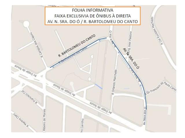 Faixa Exclusiva de Ônibus Avenida Nossa Senhora do Ó