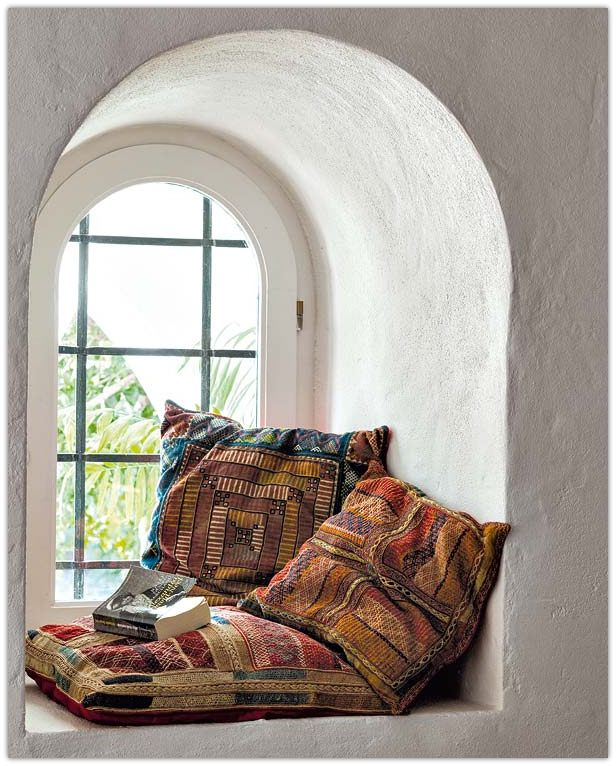Art symphony cozy window seat nooks Window seat reading nook