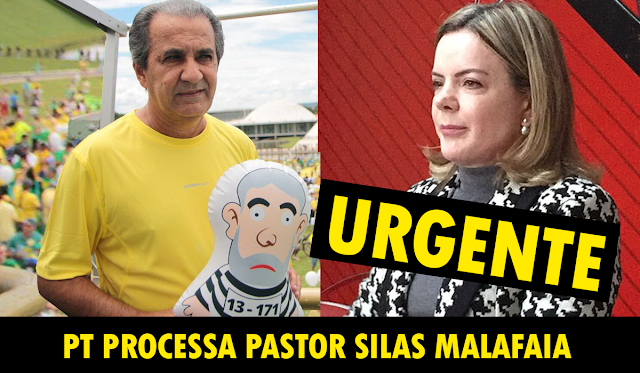 URGENTE: PT PROCESSA PASTOR SILAS MALAFAIA - Eleições 2018