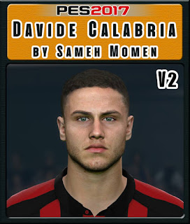 PES 2017 Faces Davide Calabria by Sameh Momen