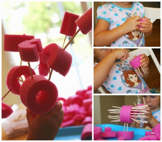 pool noodle STEM building activity