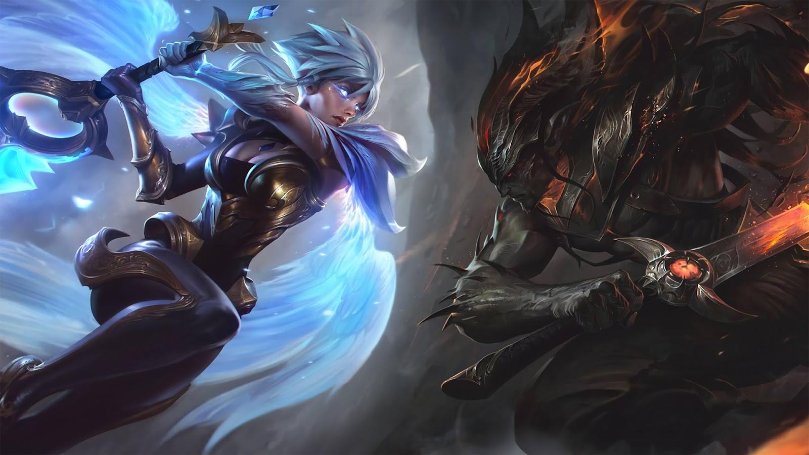 Yasuo Quỷ Kiếm vs Riven Thần Kiếm HD