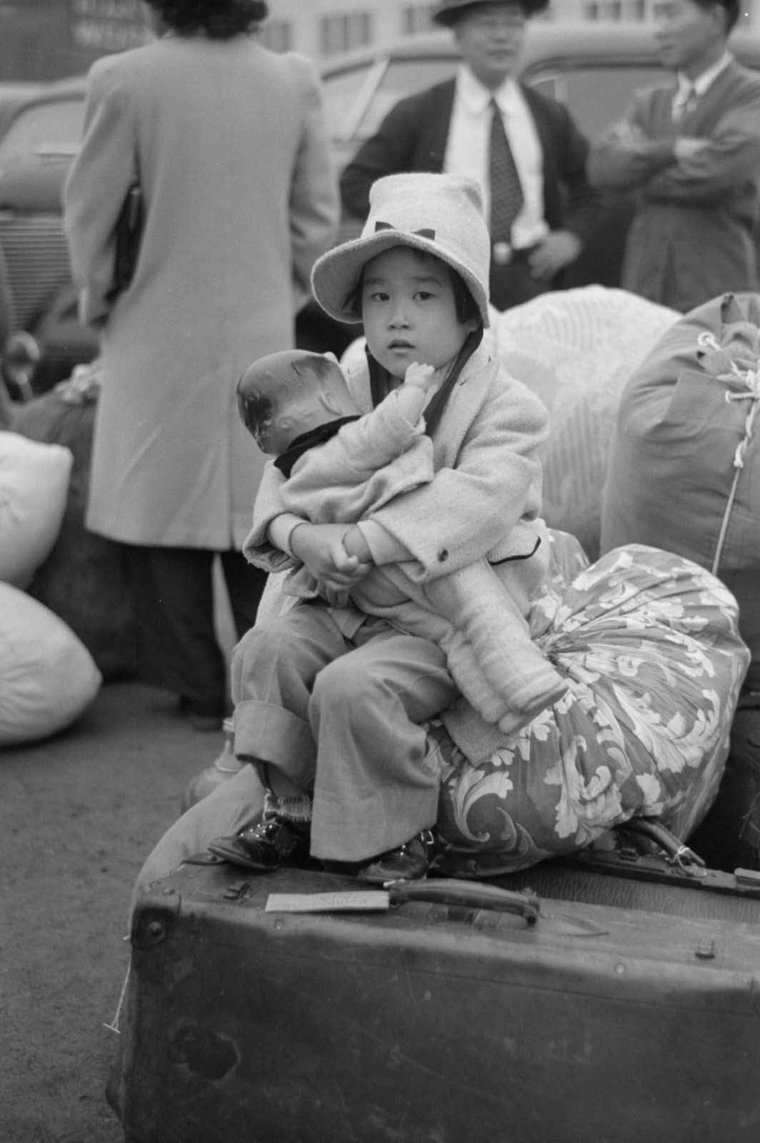 An Japanese girl with her doll.