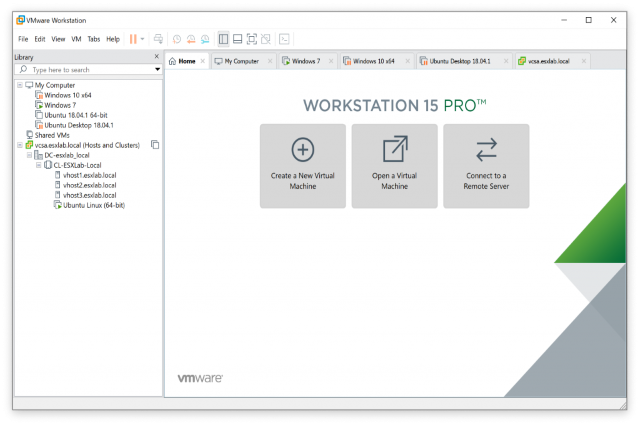 تحميل برنامج VMware Workstation 15.1.0 VMware-Workstation-1