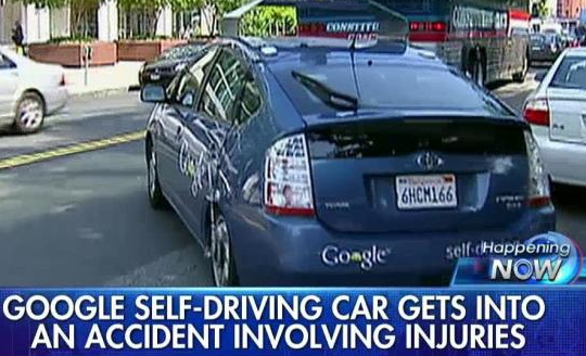 google automated car crash