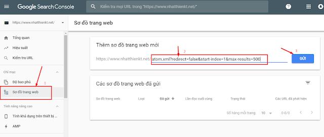 Tạo sitemap bloger blogspot khai báo lên google search console cập nhật 2019