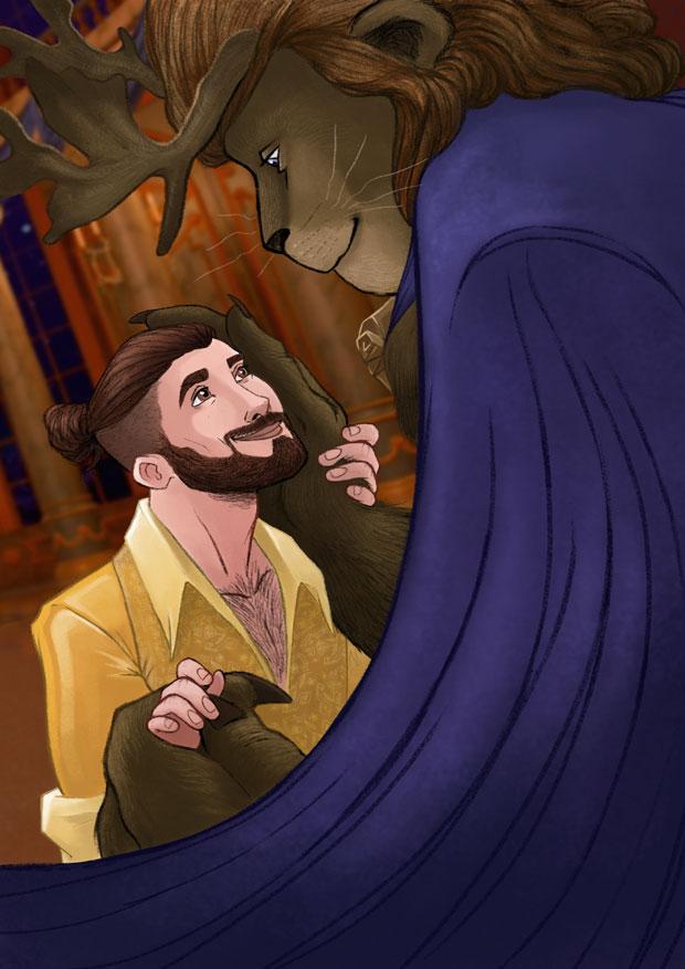 Hairy gay art