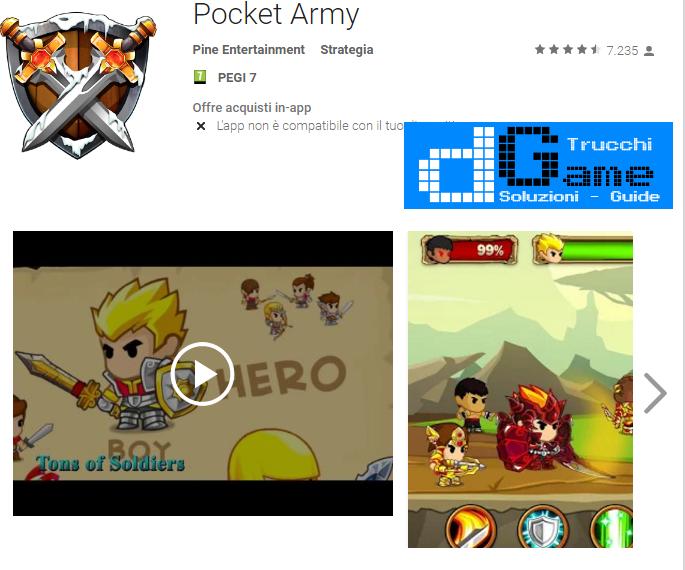 Trucchi Pocket Army Mod Apk Android v1.5