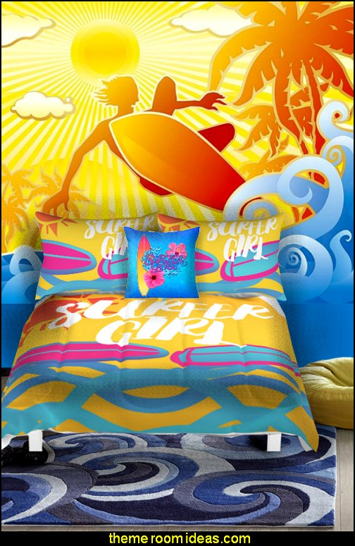 surfer girls surfing bedrooms surf bedding