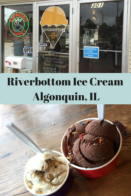 Ice Cream treats and coffee concoctions at Riverbottom in Algonquin, Illinois