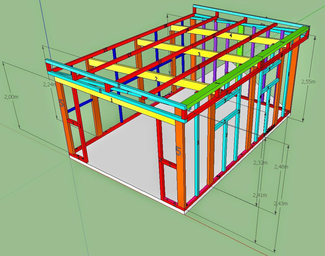Maison de j r me et laetitia construction abris de jardin en bois - Fabrication d un abri de jardin en bois ...