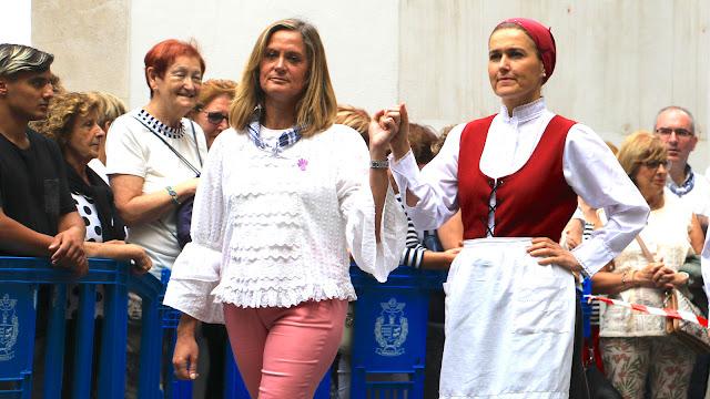 La alcaldesa, durante las fiestas