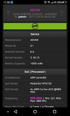 alidasi Online CPU-Z terhadap Spesifikasi Smartphone