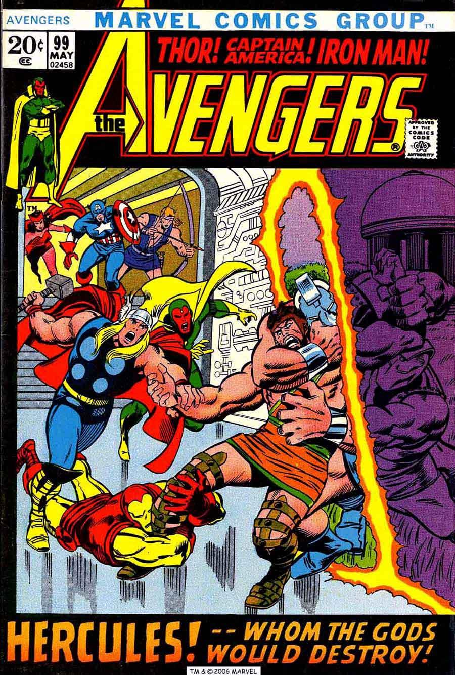 Avengers v1 #99 marvel comic book cover art by Barry Windsor Smith