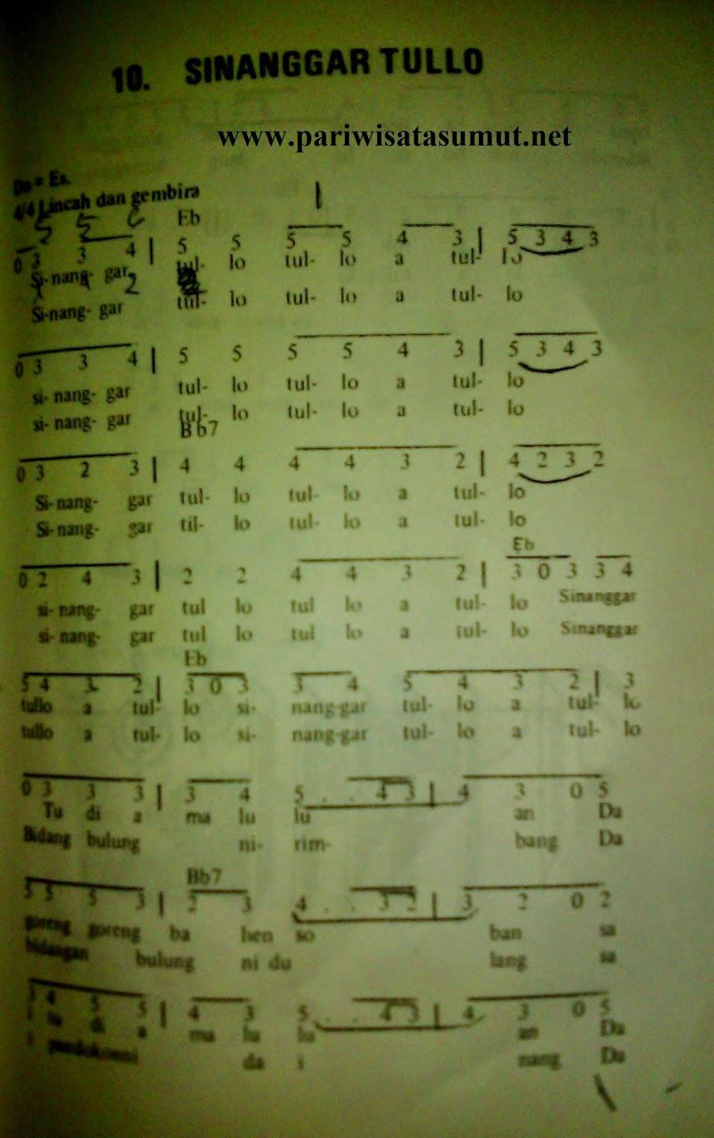 Lirik Sinanggar Tulo : lirik, sinanggar, Batak, Sinanggar, Tullo, Maknanya, Pariwisata, Sumut