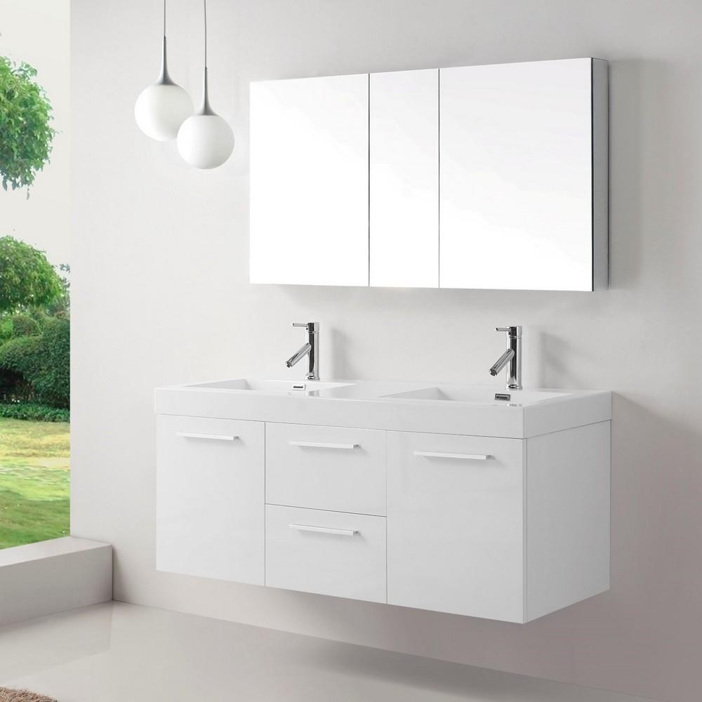 New bathroom vanities the excellent chose to upgrade your - 54 inch double sink bathroom vanity ...