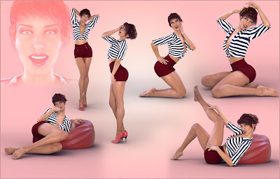 Z Classic Pinups - Poses for Genesis 8 Female and Victoria 8