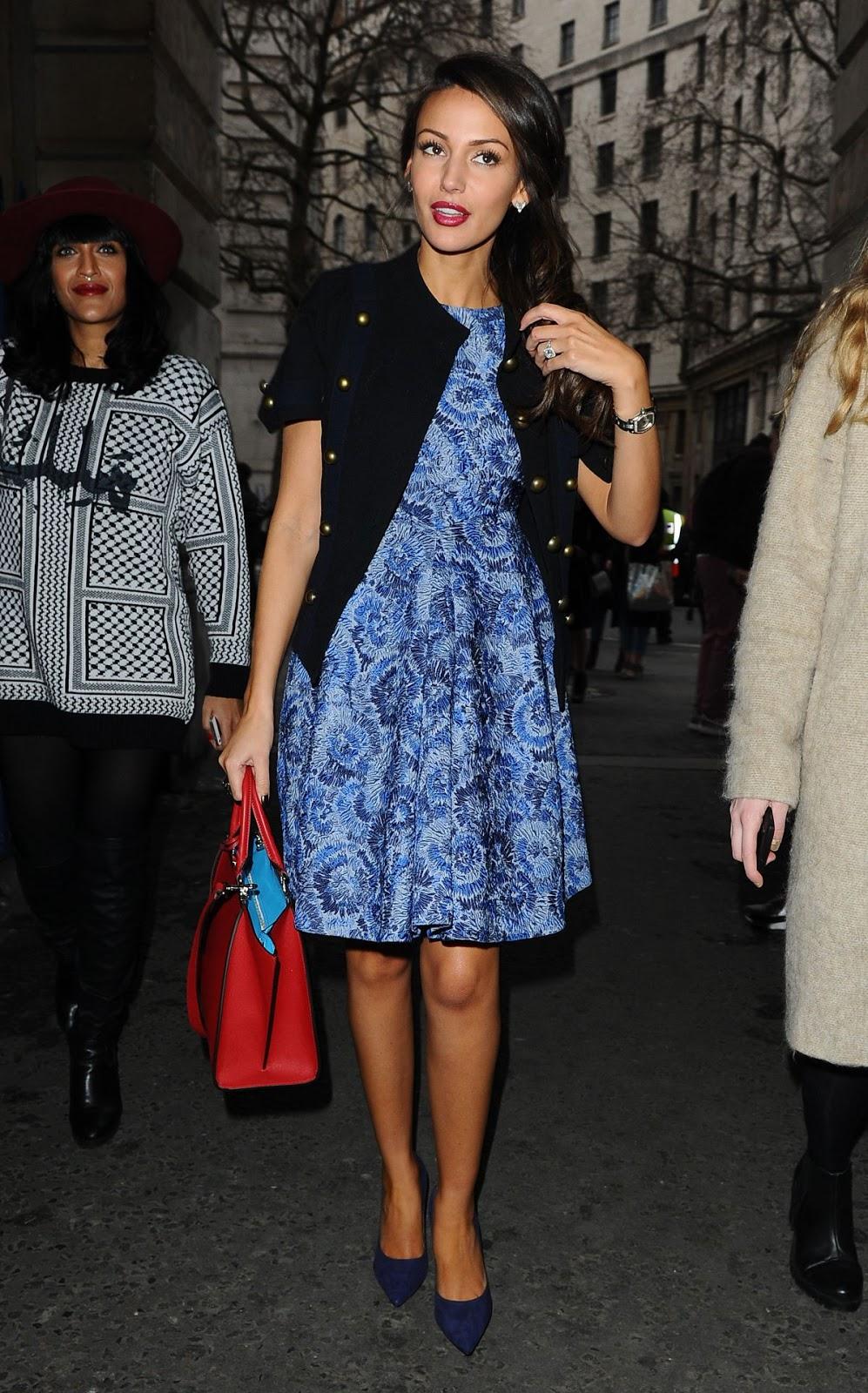 HD Photos of Michelle Keegan At Jean Pierre Braganza Fashion Show In London