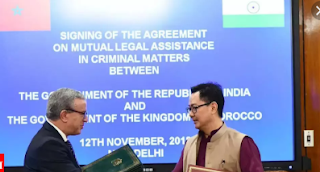 India and Morocco sign an Agreement on Mutual Legal Assistance