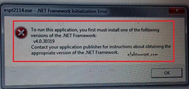 Error Saat Install eSPT PPh 21