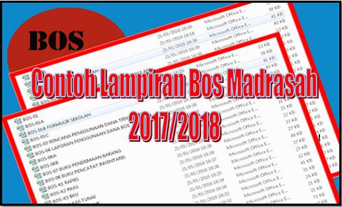 Contoh Lampiran Bos Madrasah 2017/2018