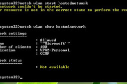 Cara Mengatasi The Hosted Network Couldn't Be Started di Windows 10/8