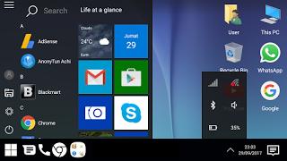 Trik dan Cara Merubah Tampilan Android Menjadi Tampilan PC Windows 10 Tanpa Root