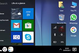 Merubah Android Menjadi Tampilan PC Windows 10 Tanpa Root