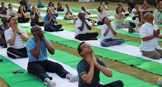 Nigeria High Commission organised:'Face Yoga for Diplomats