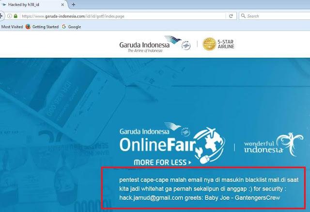 """"""" Bug Report """" Dicuekin , Hacker Ini Retas Web Garuda Indonesia Untuk Membuktikannya"""