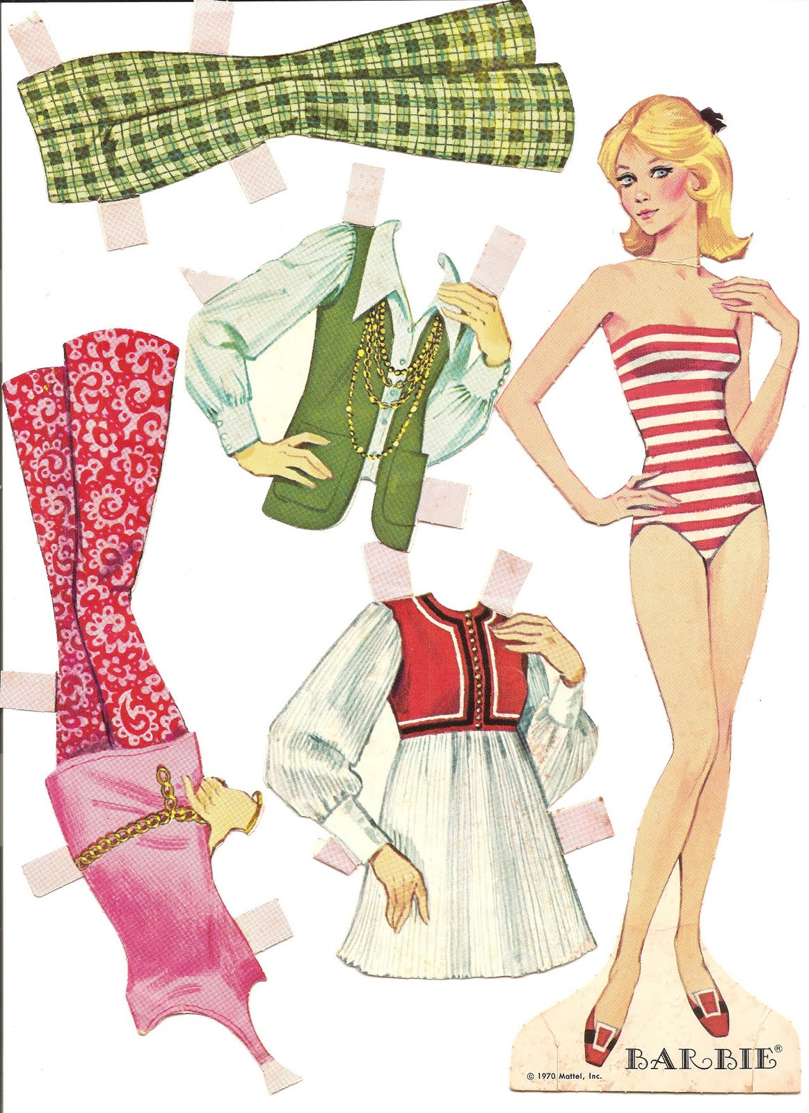Ben noto Mostly Paper Dolls: My BARBIE Paper Dolls, 1970 & 1972 WD95