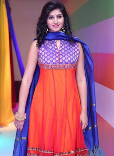 Shamili In Blue Churidar Salwar kameez At Big Bazaar (4)