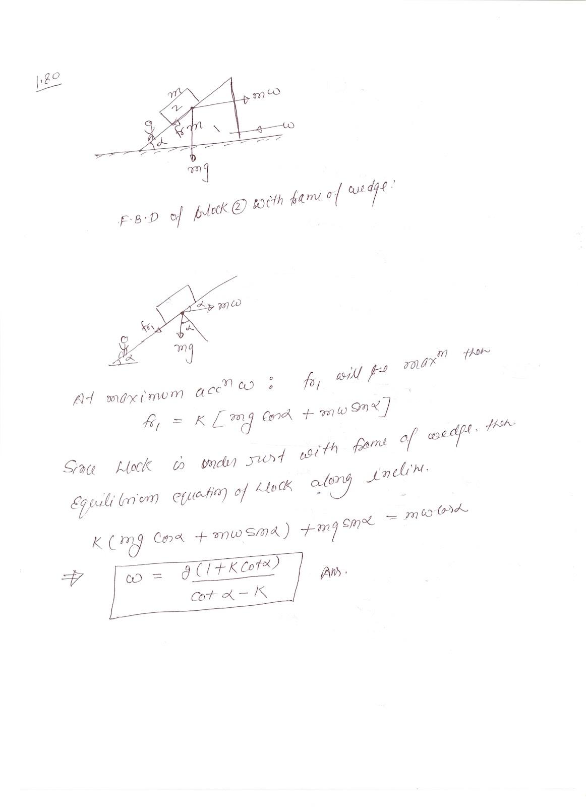 SOLUTIONS TO I E IRODOV BY RKH: problem 1.80