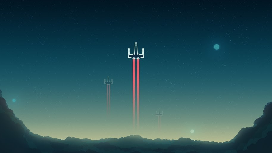 X Wing Starfighter Star Wars Minimalist Digital Art 4k