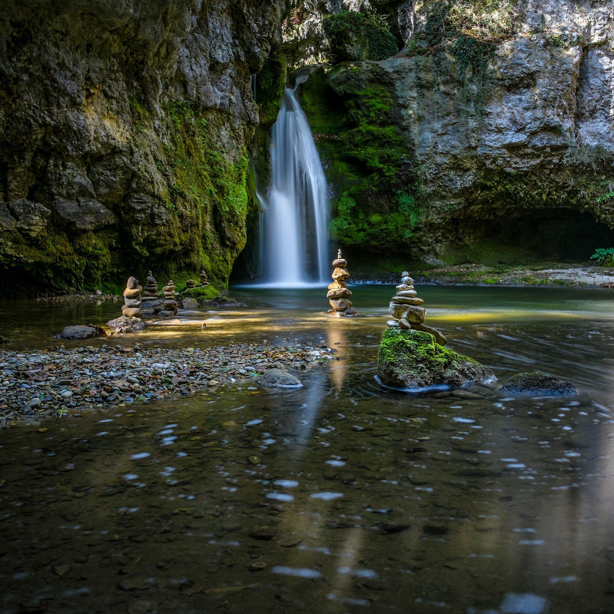 Zen Garden Waterfalls Hd Wallpapers 4k Macbook And