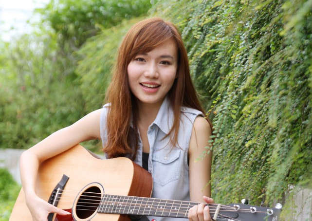 Miss Boon Hui Lu, 22, is one of the finalists of Workplace Safety and Health Council's songwriting competition.