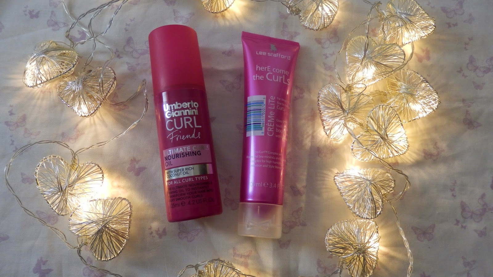Umberto Giannini Curl Friends Ultimate Curl Nourishing Oil and Lee Stafford HerE come the CurLs