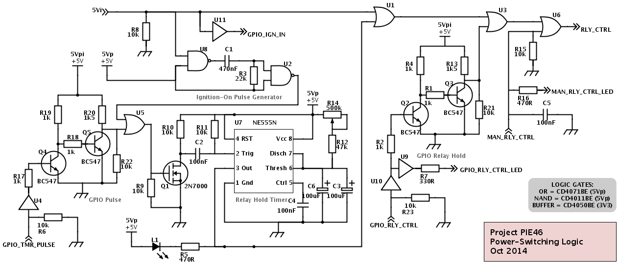 Project PIE46: Power Switching Logic Schematic