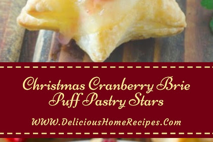 Christmas Cranberry Brie Puff Pastry Stars #christmas #cookies