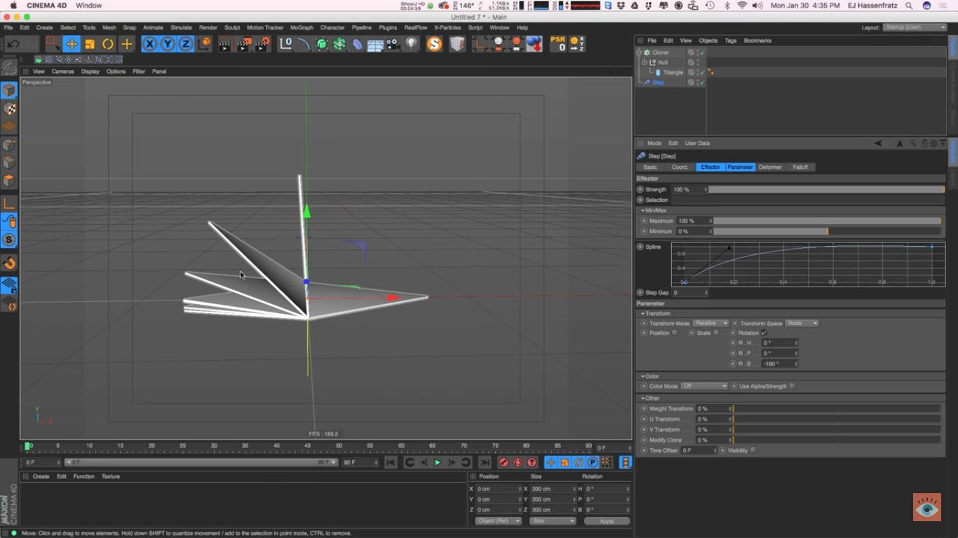create animation in c4d using mograph effectors