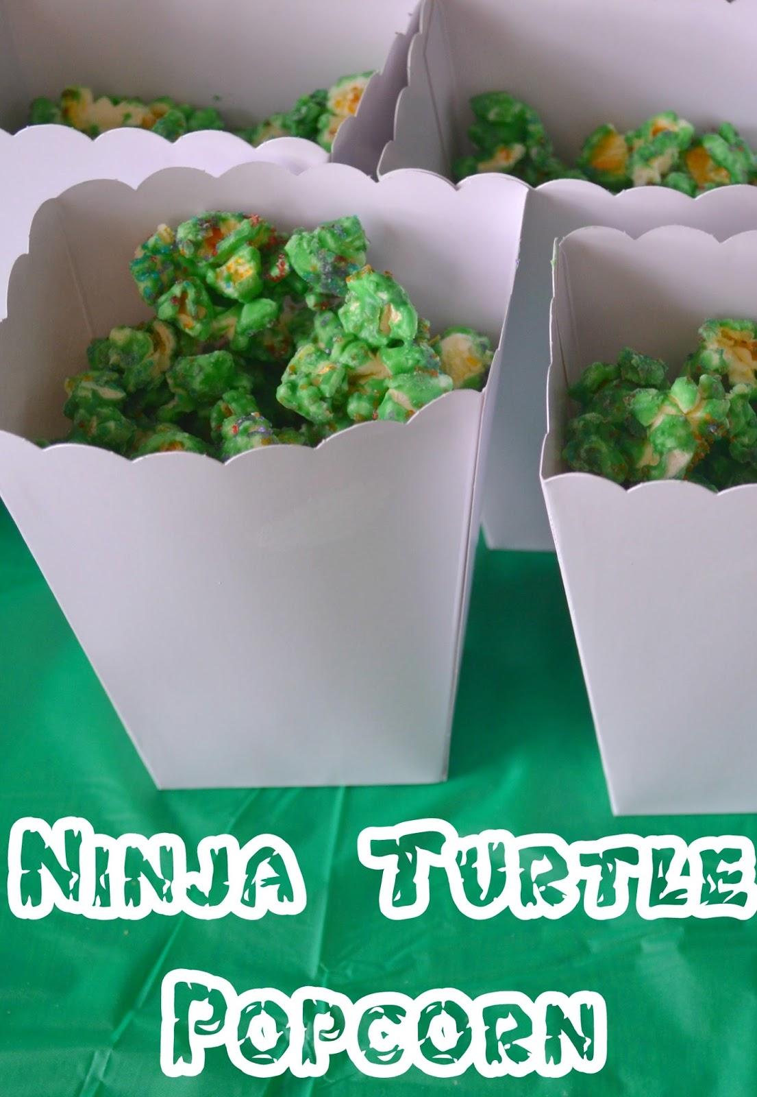 Ninja Turtle Popcorn Recipe Easy Party Ideas TMNT