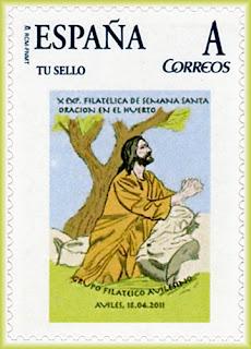 Sello personalizado de la Semana Santa de Avilés, Oración de Jesús en el Huerto