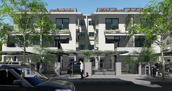 Không gian xanh Biệt Thự Song Lập SD5 IRis Homes Gamuda