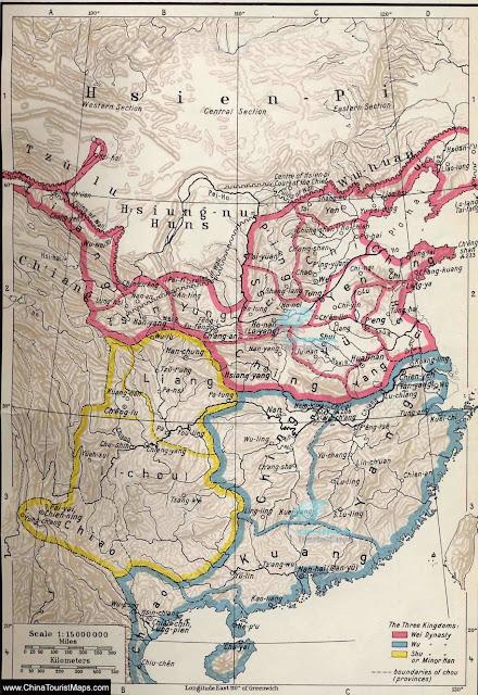 แผนที่สามก๊กภาษาอังกฤษ Romance of the Three Kingdoms Map