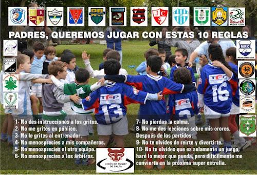 Queremos jugar con estas 10 reglas - Unión de Rugby de Salta