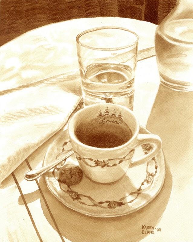 04-Morning-Coffee-Karen-Eland-The-World-Through-Coffee-Paintings-www-designstack-co